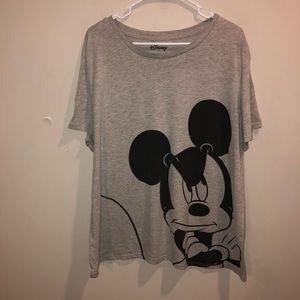 Disney Mickey Mouse graphic t shirt gray 2X
